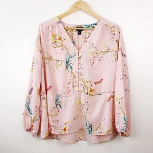Worthington • Floral Peplum Blouse Medium
